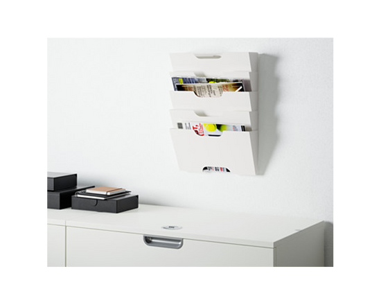 IKEA KVISSLE Newspaper Magazine Holder White