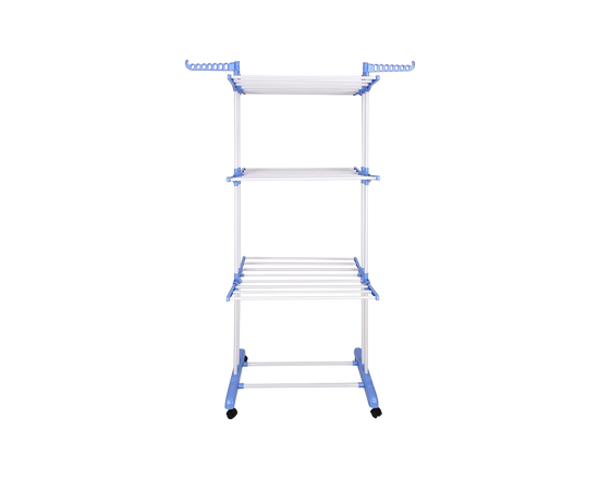 Clothes Drying Stand Airer 3 Layers On Wheels