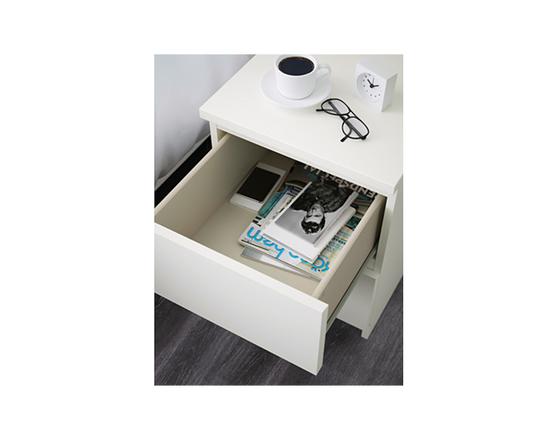 IKEA Bedside Table 2 Drawers MALM  White