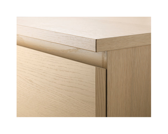 IKEA MALM Bedside Table 2 Drawers Oak Veneer