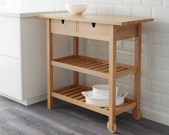 FORHOJA Kitchen Trolley Birch