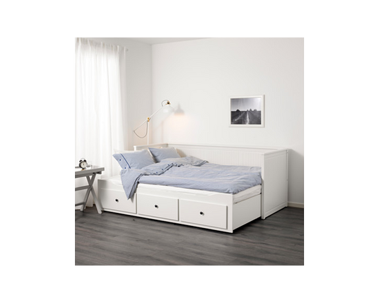 White IKEA HEMNES Daybed Frame