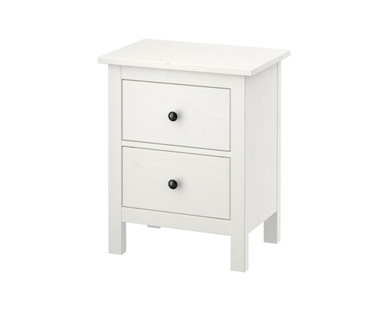 IKEA Hemnes Dresser 2 Chest of Drawer White