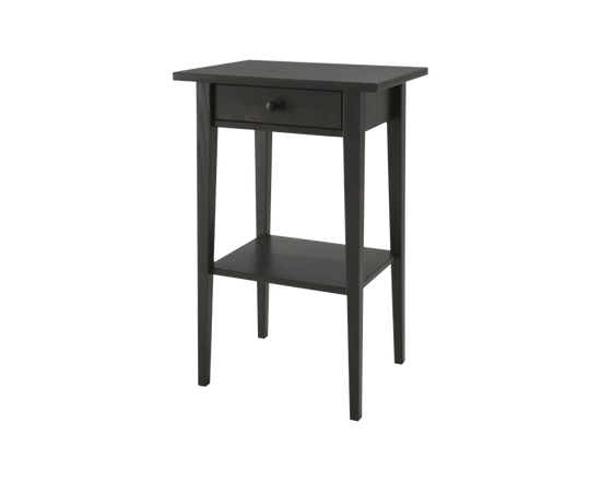 IKEA Hemnes Black Bedside Table