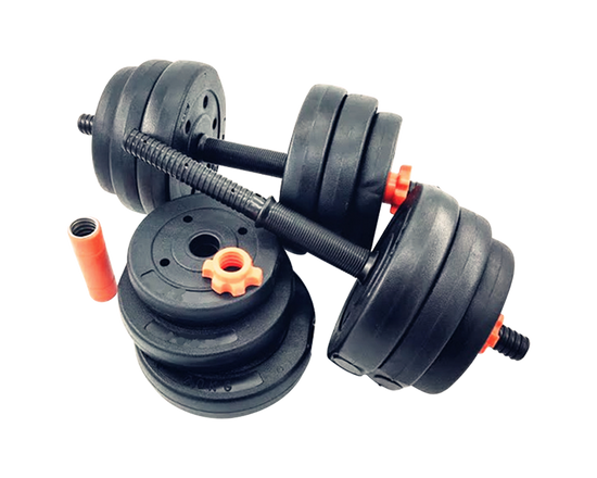 2 in 1  Adjustable Dumbbell Barbell Set 28Kg