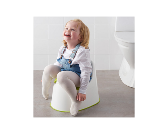 IKEA LOCKIG Children's Potty White Green