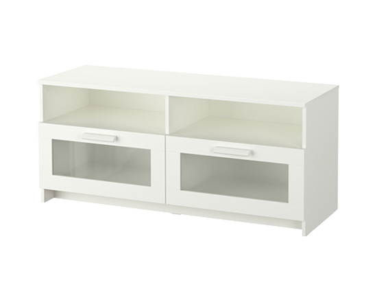 Our bed ikea brimnes series with storage underneath and in the