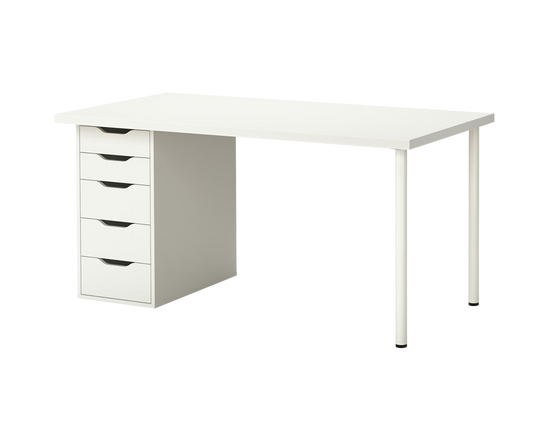 IKEA LINNMON Table ALEX Office Drawer White