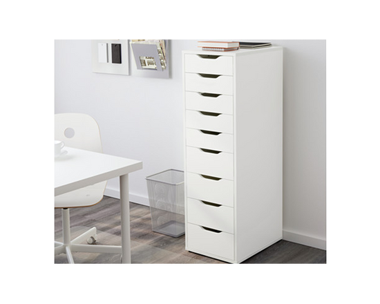 IKEA ALEX Office Drawer White 9 Drawer