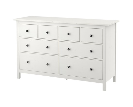 IKEA HEMNES Clothes Draw Tallboy 8 Drawers  White Stain