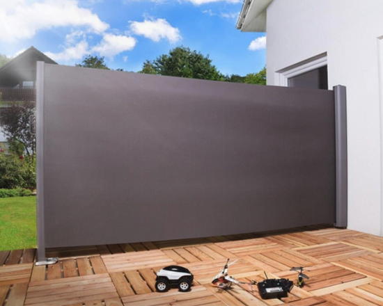 Retractable Side Awning Screen Grey 1.8x3M