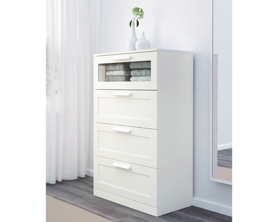 IKEA Drawer BRIMNES 4 Drawers White Tallboy