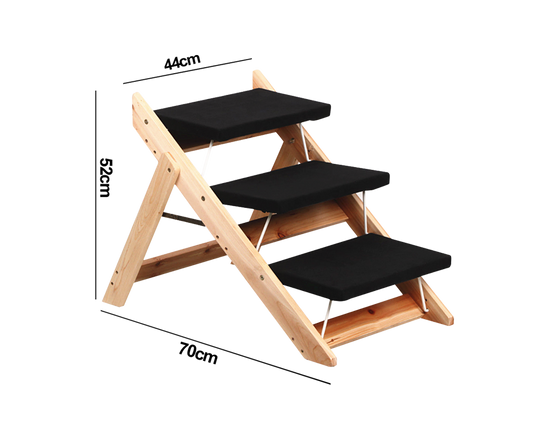 3 Steps Wooden Folding Pet  Stair Ramp