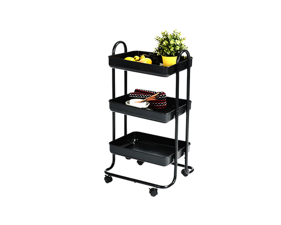 MARMION Kitchen Trolley BLACK