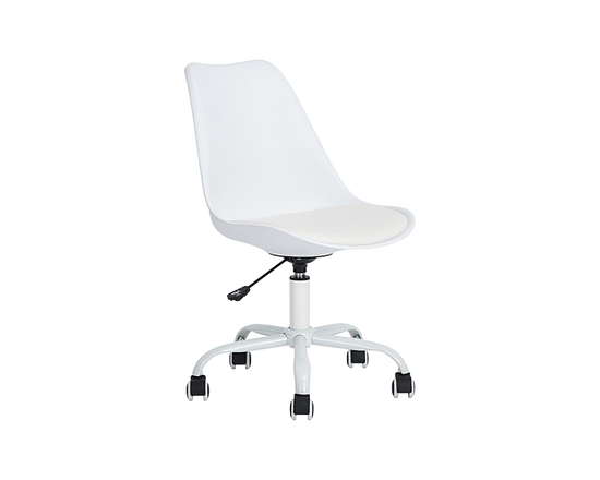 BLOKHUS Adjustable Swivel Office Chair White