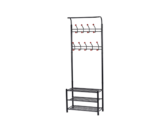 Freestanding Clothes Rack  Black
