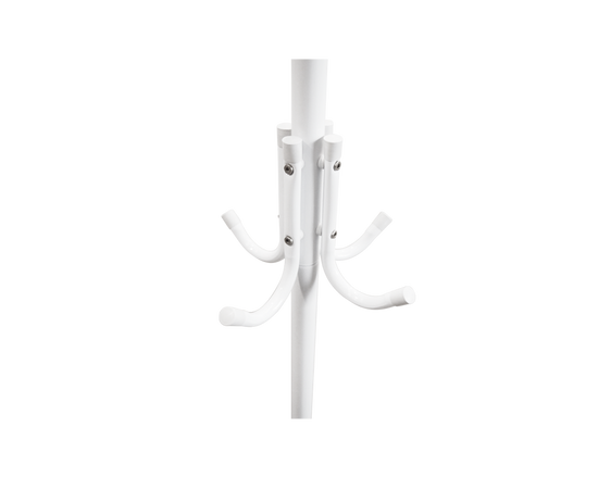 Metal Clothes Coat Rack Stand White