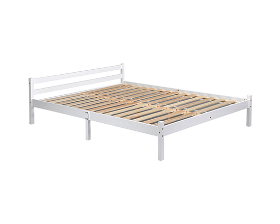 Double  Bed Frame White