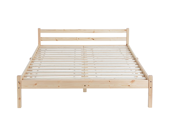 Bed Frame Double Pine Wood