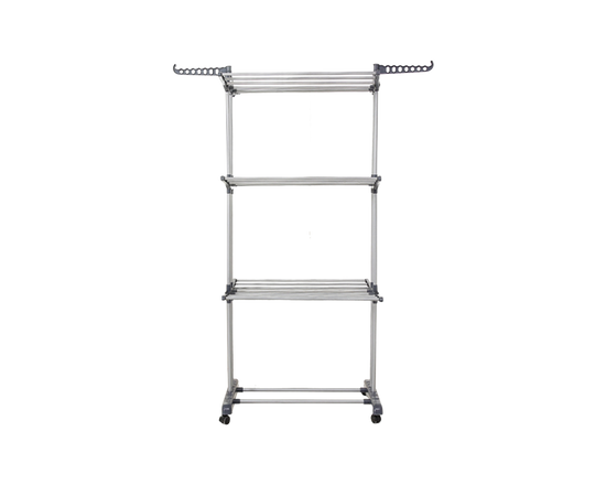 3 Layer Clothes Rack Airer Grey