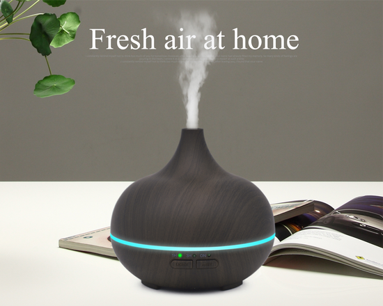 Aroma Essential Oil Diffuser Humidifier 150ml Black