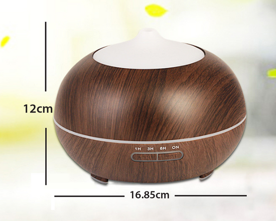 Aroma Oil Diffuser 300ml Brown
