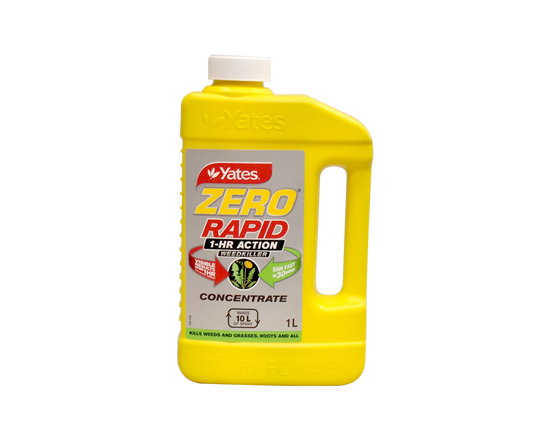 Yates Zero Weedkiller Rapid 1 Hour Broad Spectrum Concentrate 1L