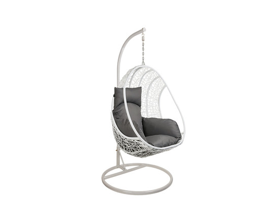 Rattan Hanging Egg Chair White