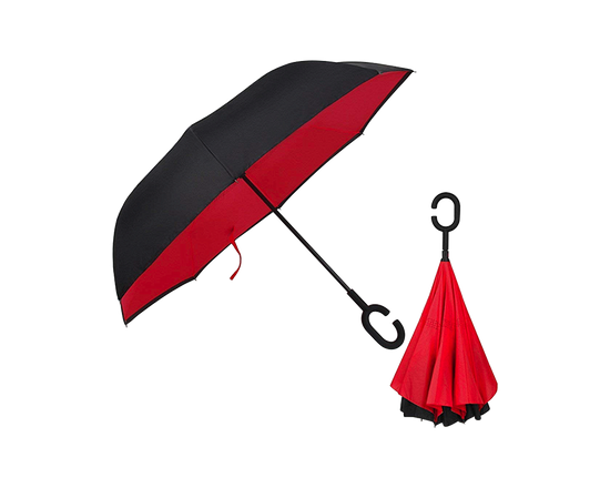 Double Layer Reverse Umbrella RED