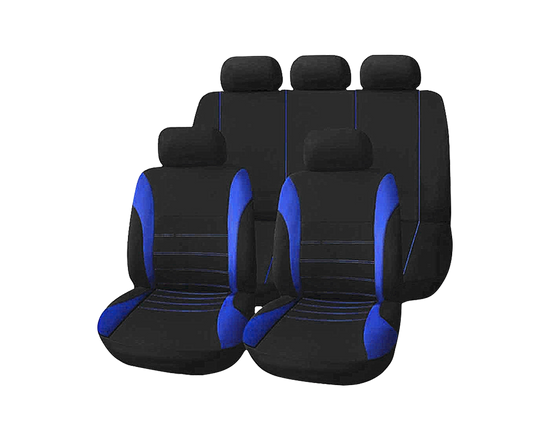 Universal Car Seat Cover 9 pcs Blue