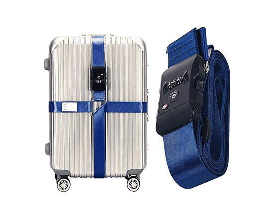 TSA Suitcase Cross Strap BLUE