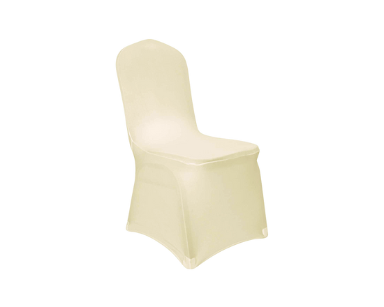 Spandex Dining Chair Cover Beige 1pc