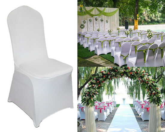 Spandex Wedding Chair Cover White
