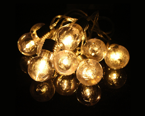 10 LED Light Bulb String Light Warm