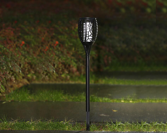 solar LED Flickering Flame Torch Garden Light