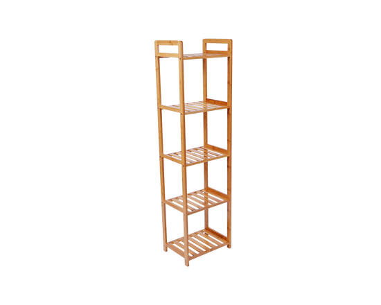 5 Tier Bamboo Bathroom Shelf