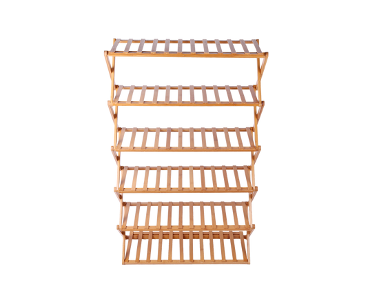 Shoe Storage  Rack 6 Tier Bamboo