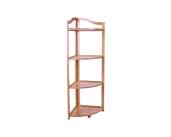 Bathroom  Corner Shelf 4 Tier Bamboo