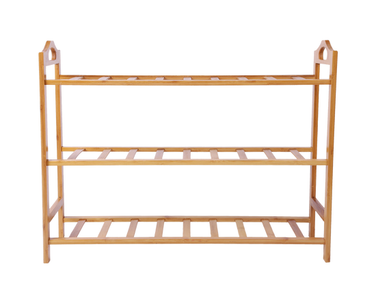 Shoe Storage Rack Bamboo 3 Tier