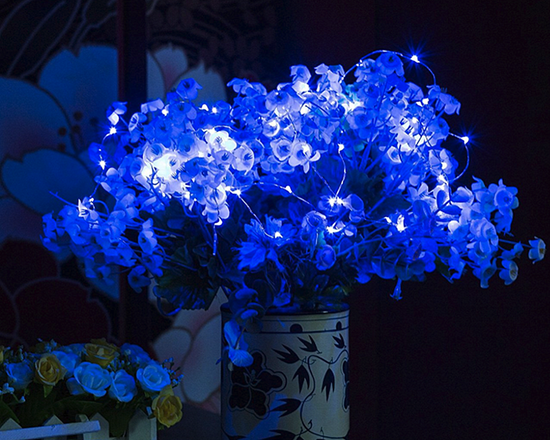 String Lights LED Blue 2M 2 Sets