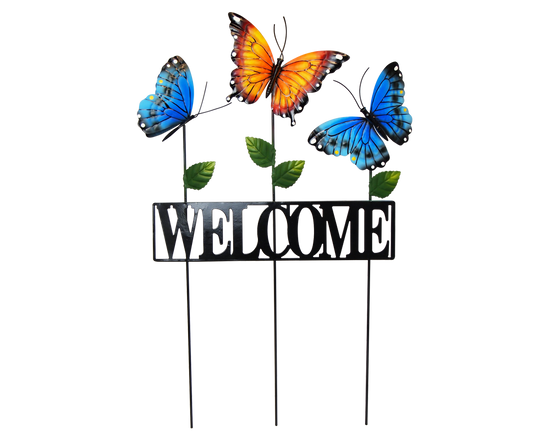 Butterflies Welcome Garden Stake