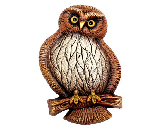 Small Morepork Garden Plaque