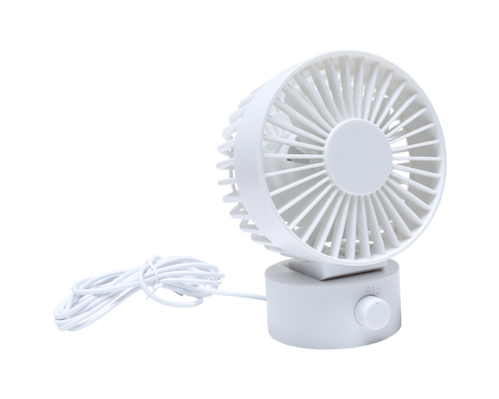 Mini Desktop USB Fan White