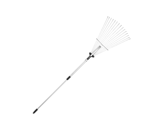 Garden Leaf Rake Metal Adjustable