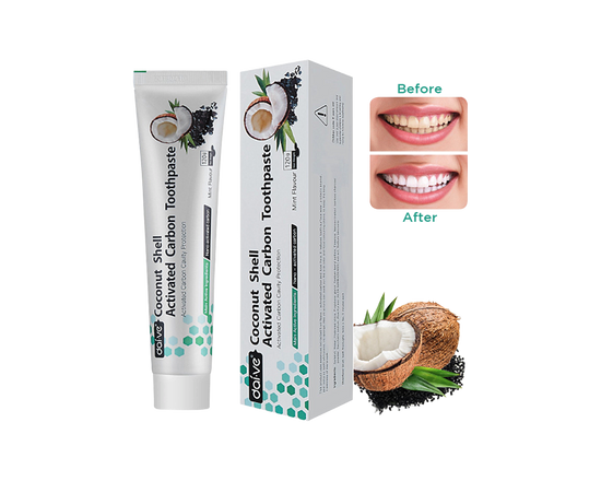 Coconut Toothpaste Charcoal Organic Whitening 2pc