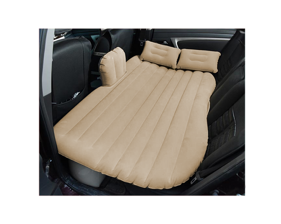 Inflatable Car Mattress Air Bed Biege