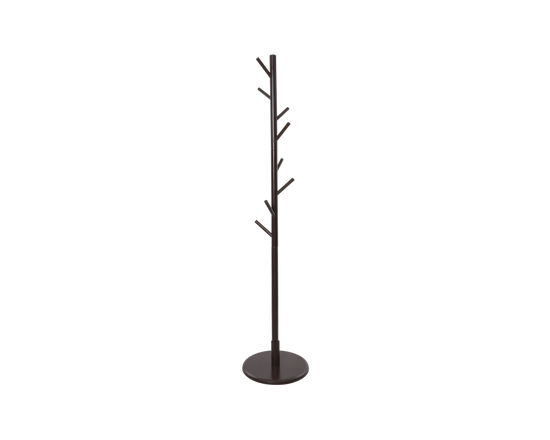 Wooden Coat Rack Stand 165cm Black