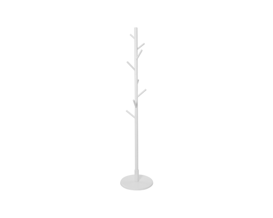 Wooden Coat Rack Stand 165cm White