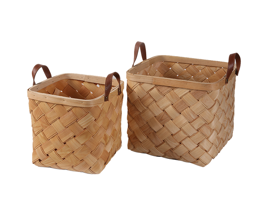 Blanket Storage Basket Set of 2