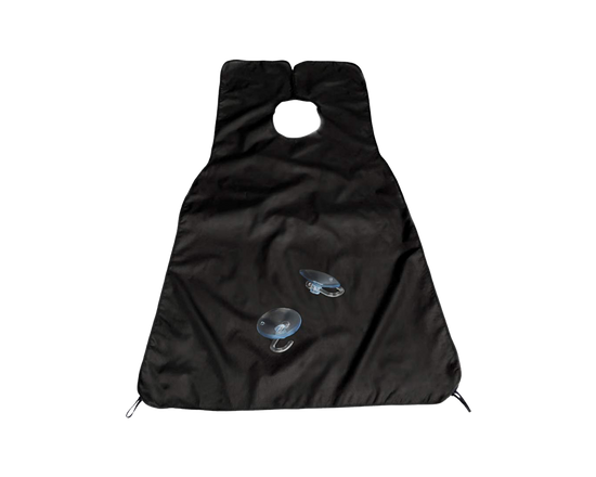 Shaving Bib Beard Catcher Apron Black 2pcs